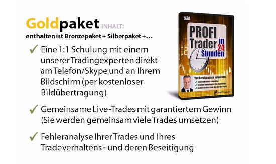 Profitrader24 - Geld verdienen mit Trading - Goldpaket